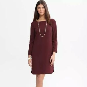 Banana Republic Burgundy Shift Dress